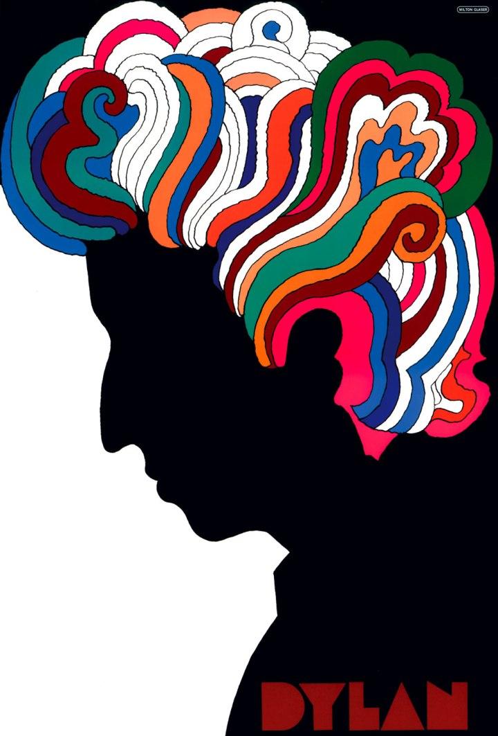 Cartel de Bob Dylan de Milton Glaser